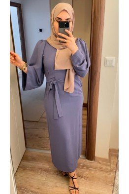 Belden Bağcıklı Elbise