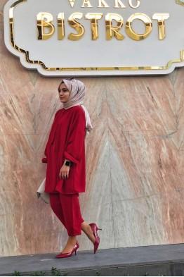 Qasha Store Fiyonk Takım Kırmızı