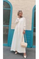 Helin Tunik Elbise Beyaz